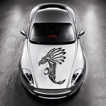 Car Hood Vinyl Decal Graphics Stickers Murals Design Tribal Dragon Tattoo SV4935