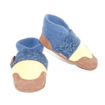 Wool Toddler Slippers, Cashmere Booties
