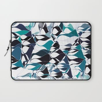 Abstract waves Laptop Sleeve by VanessaGF
