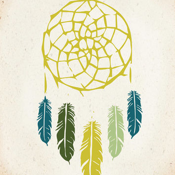 Native Dreamcatcher Art Print 8x10 inch American Tribal, SALE buy 2 get 3