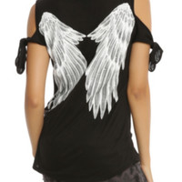 Angel Wings Cold Shoulder Top