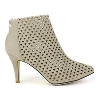 Fahrenheit Carol-01 Eye-lit High Heel Booties in Beige @ ippolitan.com