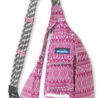 Monogrammed Kavu Rope Bags - Sangria - Great gift for College, Teens, Women, Outdoors Satchel Crossbody Tote
