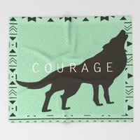 Courage Throw Blanket by Laura Santeler