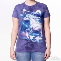 UNICORN STAR Womens T-Shirt Moon Night Fantasy The Mountain Top S-2XL NEW!
