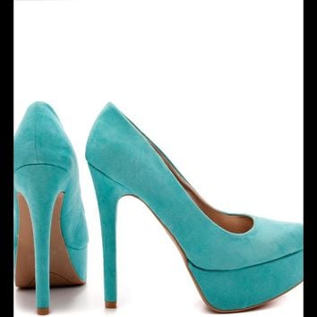 Tiffany blue teal turquoise heels