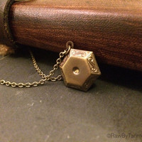Gorgeous Engraved Locket Sacred Geometry Brass Bronze Diffuser Necklace Gift  – Hipster- Pixie jewellery