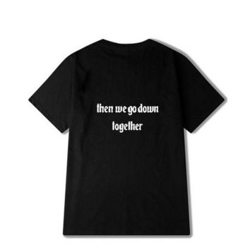 Tops and Tees T-Shirt Casual Letter Printed Best Friend Matching T-Shirt BFF T Shirt Women Girls Lovers Couples Tee Shirt Femme Cotton Summer  AT_60_4 AT_60_4