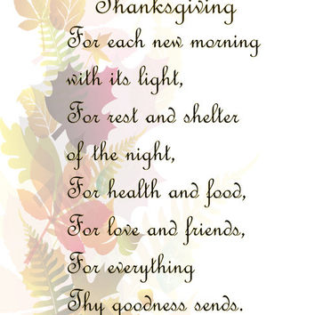 Thanksgiving Image, Fall Leaves Image, Emerson Thanksgiving Prayer Quote, Wall Art, Autumn Wall Décor, Family Room, Dining Room Décor,Prayer