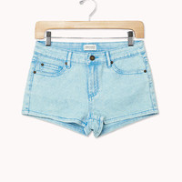 Acid Wash Denim Shorts