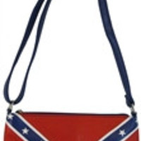 Flag: Confederate Rebel Flag Concealed Carry Purse Messenger Bag