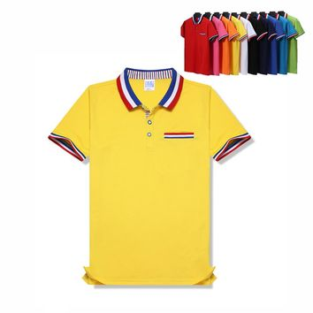 11 color Top Quality For Kids Men Women POLO Shirt Turn down collar with pocket polo Homme Parent child Cotton Polo Shirt TS801