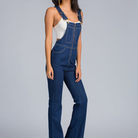 Flare Game Denim Overalls GoJane.com
