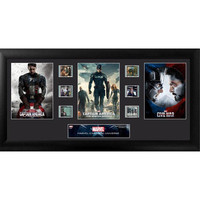 Captain America Movie Trilogy Mixed Montage Framed Film Cell