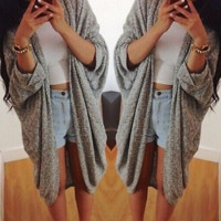 Cute bat sleeve cardigan