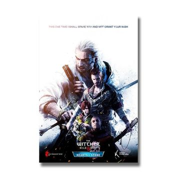The Witcher 3 Wild Hunt Silk Posters Game Prints Wall Art Painting 12x18 24x36 inch Decoration Pictures Living Room Decor 005