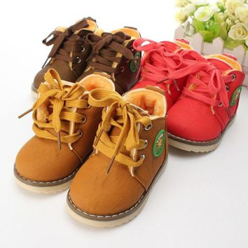 LMFUG3 New Baby Girls Boys Kids Martin Snow Boots Children Cotton Oxfords Shoes Winter = 1930544260