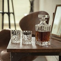 4pc Admiral Crystal Decanter Set