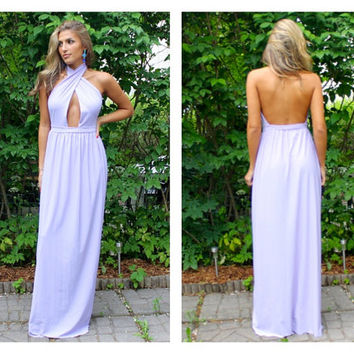 Maxi halter dress, maxi dress, open back dress, bridesmaids maxi dress, bridesmaids dress, prom dress, evening dress.