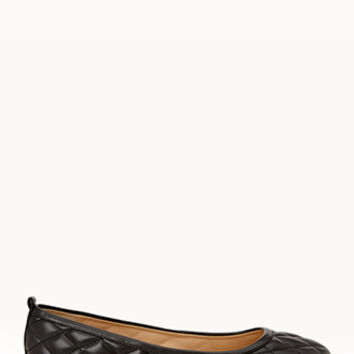 Iconic Faux Leather Ballet Flats