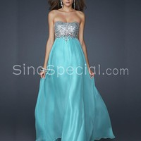 Easter Day Promotion:Beautiful A-line Scoop Neckline Floor Length Sequins Prom Dress -SinoSpecial.com