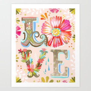 LOVE Art Print by Katie Daisy