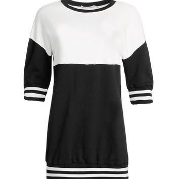 Gussie Smocked 3/4 Sleeve Sweatshirt Dress | Alice + Olivia