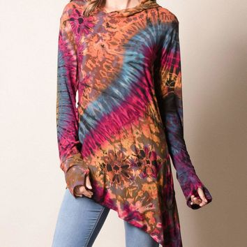 Bright-Eyed Tie-Dye Tunic
