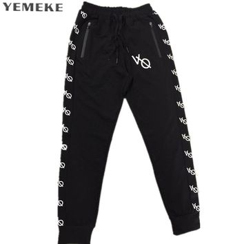 Men Interlock Jogger Pants  Pocket Sweatpants Men Elastic Waistband Black Casual Pants
