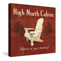 Lodge Signs I (High North Cabins) Canvas Wall Art