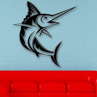 Wall Stickers Vinyl Decal Fish Ocean Marine Great Room Decor (ig507)