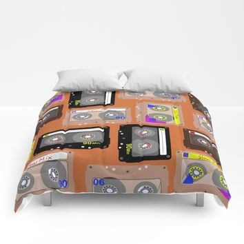 Mix Tapes Orange Comforters by UMe Images