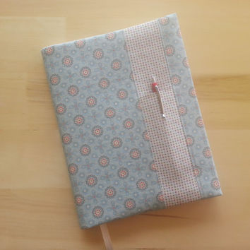 Composition Notebook Cover ~ Blue Flower and Dot ~ Makes a Great Gift ~ Shipping Included in the Price