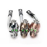 Skull Mini Pipe Metal Ghost Smoking Accessories