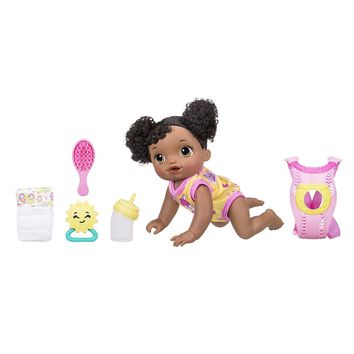 African American Baby Alive Interactive Crawling,Talking, and Drinking, Baby Doll Go Bye, Bye