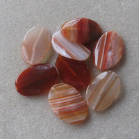 Red Line Agate Gemstone Pendants, Jewelry Making Beads, Twist Oval Pendants, Agate Pendants, Craft Supplies, Bead Supply, Jewelry Design