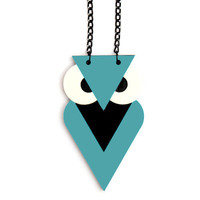 FREE SHIPPING Green Owl Necklace