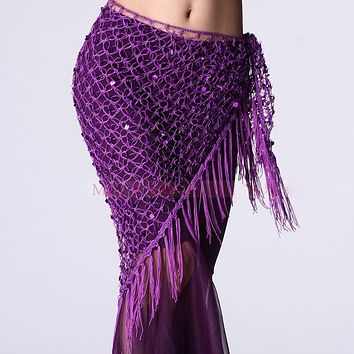Ladies Sexy Belly Dance Costumes Sequins Outfit