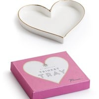 Shop Prima Donna - Open Heart Trinket Tray White/Gold