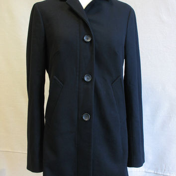 Piazza Sempione Wool Car Coat With Zipper And Buttons