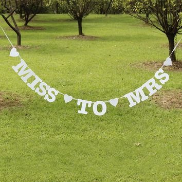 Miss To Mrs Banner Hen Party Bridal Shower Bachelorette Party Night Decorations