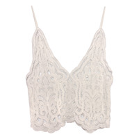 Sexy Lace Embroidery Bustier Under lace lining Tops Crop tops Summer Beach Cover Up Lace Top Camisole Vest