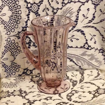 Amethyst Fostoria Rare Wisteria Lafayette Purple/ Orchid Water Pitcher- Vintage 1930's