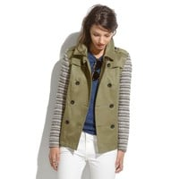 Crossweave-Sleeve Trench - outerwear - Women's JACKETS & OUTERWEAR - Madewell