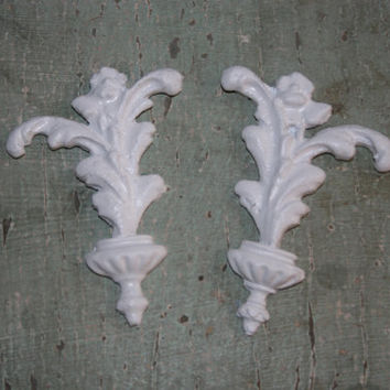 2 Furniture appliques / craft applique / shabby chic / romantic cottage / DIY projects / appliques / painted furniture