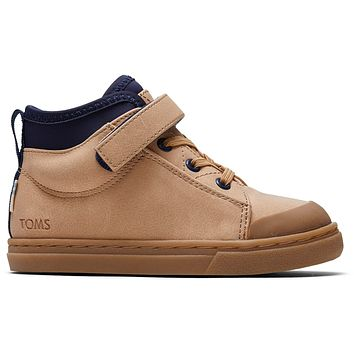 TOMS - Tiny Toms Cusco Honey Synthetic Suede Sneakers