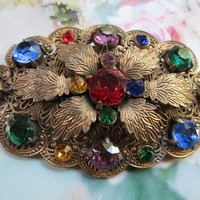Vintage Jeweled Brooch
