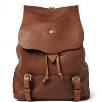 Bill Amberg Hunter Leather Backpack | MR PORTER