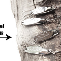 Personalized fishing lure - men man dad fish sports outdoors