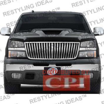 Chevrolet 2006-2007 Chevrolet Silverado Classic Chrome Vertical Narrow Bar Abs Grille Performance